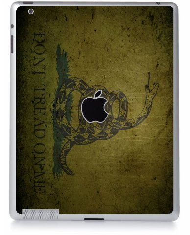 GREEN DONT TREAD ON ME Apple iPad 2 A1395 SKIN