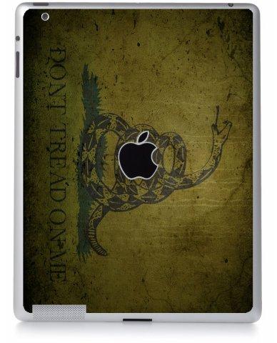 GREEN DONT TREAD ON ME Apple iPad 3 A1416 SKIN