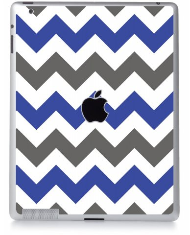 GREY BLUE CHEVRON Apple iPad 2 A1395 SKIN