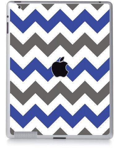 GREY BLUE CHEVRON Apple iPad 3 A1416 SKIN