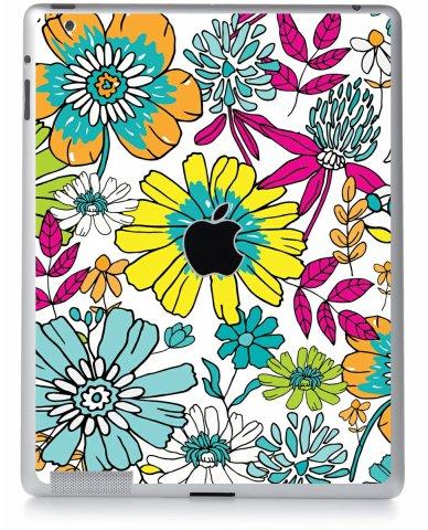 Hand Drawn Flowers Apple iPad 4 A1458 Skin
