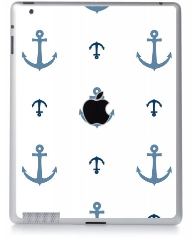 MULTI BLUE ANCHORS Apple iPad 2 A1395 SKIN