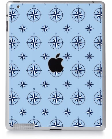 NAUTICAL BLUE Apple iPad 2 A1395 SKIN