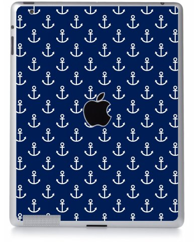 NAVY BLUE ANCHORS Apple iPad 2 A1395 SKIN