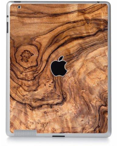 Olive Wood Grain Apple iPad 4 A1458 Skin