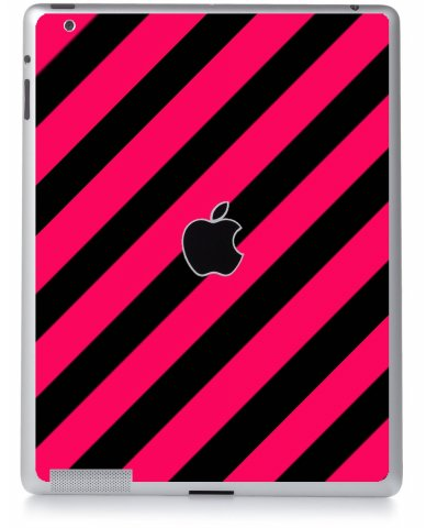 PINK BLACK STRIPES Apple iPad 2 A1395 SKIN