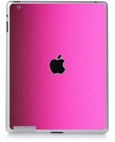 PINK TEXTURED CARBON FIBER Apple iPad 2 A1395 SKIN