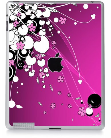 PINK FLOWERS Apple iPad 2 A1395 SKIN