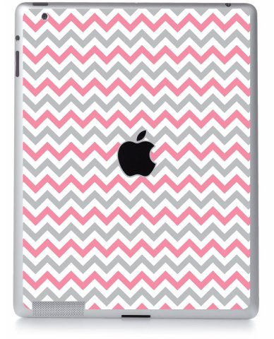 PINK GREY CHEVRON Apple iPad 2 A1395 SKIN
