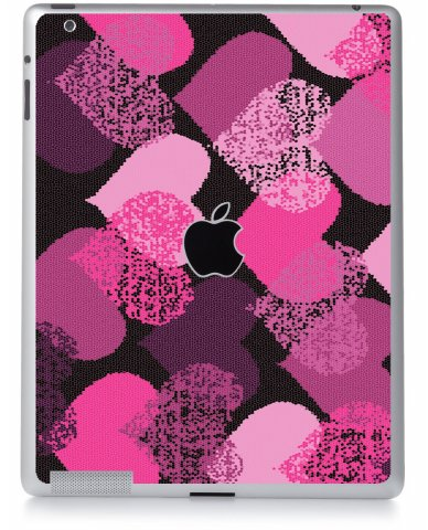 PINK MOSAIC HEARTS Apple iPad 2 A1395 SKIN