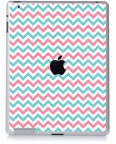 PINK TEAL CHEVRON Apple iPad 2 A1395 SKIN