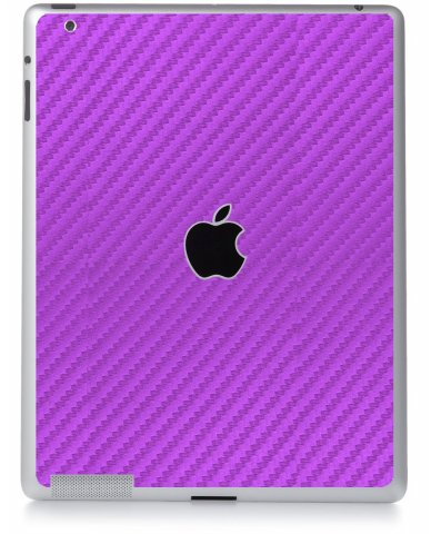 PURPLE TEXTURED CARBON FIBER Apple iPad 3 A1416  SKIN