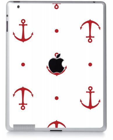 RED ANCHORS Apple iPad 2 A1395 SKIN