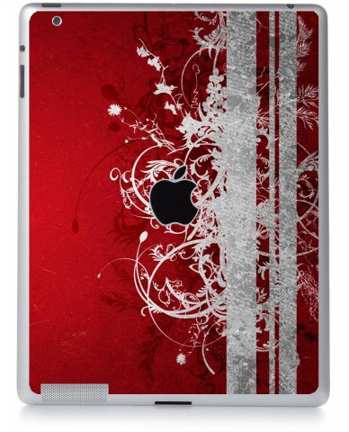RED GRUNGE Apple iPad 2 A1395 SKIN