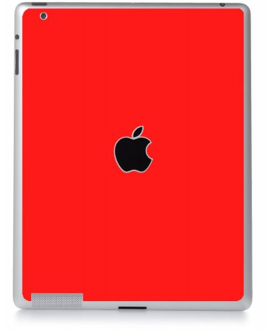 RED Apple iPad 2 A1395 SKIN