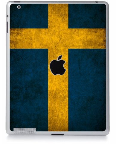 SWEDISH FLAG Apple iPad 2 A1395  LAPTOP SKIN