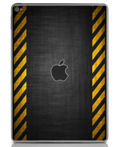 BLACK CAUTION BORDER Apple iPad Air 2 A1566 SKIN