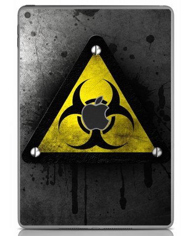 BLACK CAUTION Apple iPad Air 2 A1566 SKIN