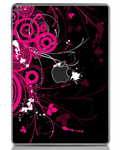 BLACK PINK BUTTERFLY Apple iPad Air 2 A1566 SKIN