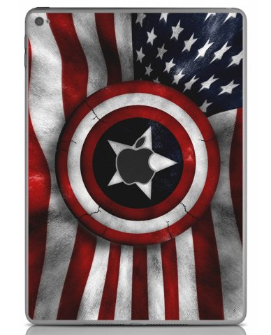 CAPTAIN AMERICA FLAG Apple iPad Air 2 A1566 SKIN