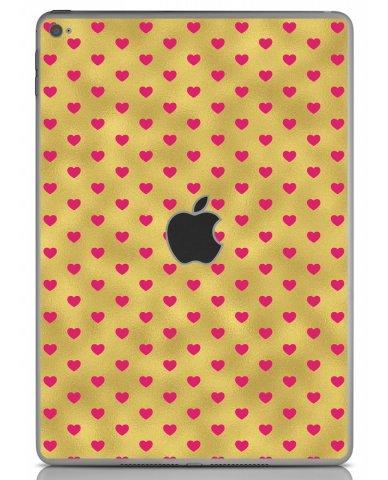 GOLD PINK HEARTS Apple iPad Air 2 A1566 SKIN