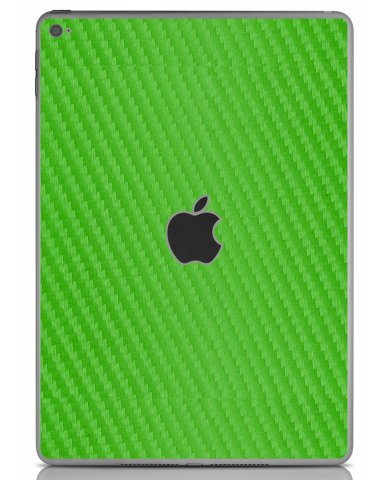 GREEN TEXTURED CARBON FIBER Apple iPad Air 2 A1566 SKIN