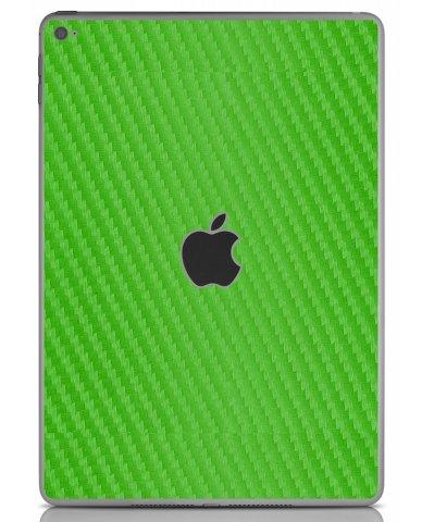 GREEN TEXTURED CARBON FIBER Apple iPad Air 2 A1566 SKIN