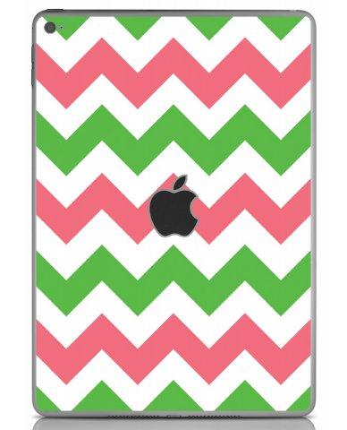 GREEN PINK CHEVRON Apple iPad Air 2 A1566 SKIN