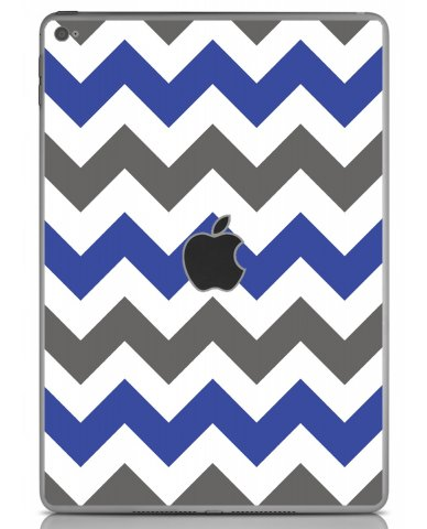 GREY BLUE CHEVRON Apple iPad Air 2 A1566 SKIN
