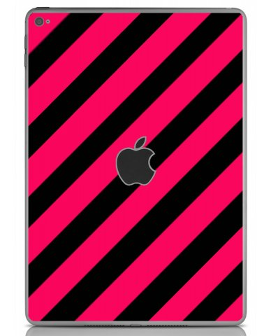 PINK BLACK STRIPES Apple iPad Air 2 A1566 SKIN