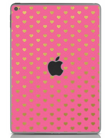 PINK GOLD HEARTS Apple iPad Air 2 A1566 SKIN