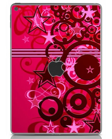 PINK GRUNGE STARS Apple iPad Air 2 A1566 SKIN