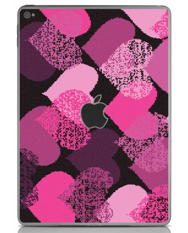 PINK MOSAIC HEARTS Apple iPad Air 2 A1566 SKIN