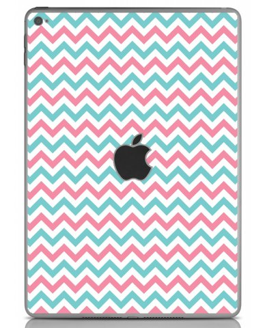 PINK TEAL CHEVRON Apple iPad Air 2 A1566 SKIN