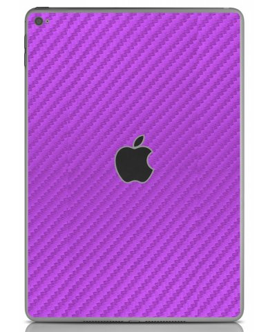 PURPLE TEXTURED CARBON FIBER Apple iPad Air 2 A1566  SKIN
