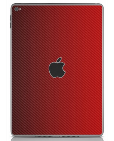 RED TEXTURED CARBON FIBER Apple iPad Air 2 A1566 SKIN
