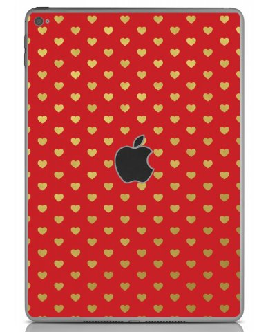RED GOLD HEARTS Apple iPad Air 2 A1566 SKIN