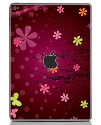 RETRO PINK FLOWERS Apple iPad Air 2 A1566  SKIN