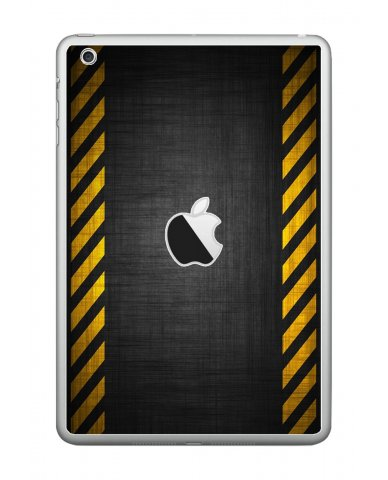 BLACK CAUTION BORDER Apple iPad Mini A1432 SKIN