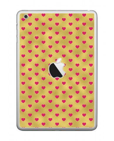 GOLD PINK HEARTS Apple iPad Mini A1432 SKIN