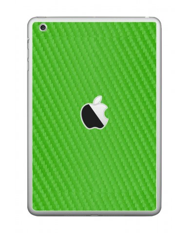 GREEN TEXTURED CARBON FIBER Apple iPad Mini A1432 SKIN