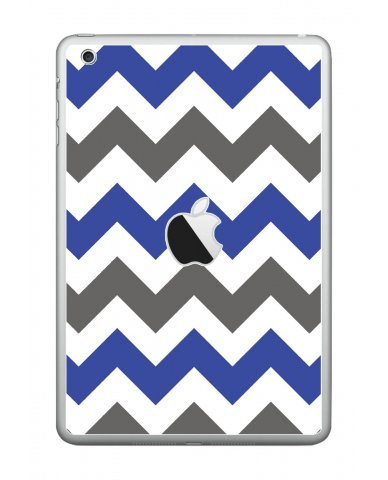 GREY BLUE CHEVRON Apple iPad Mini A1432 SKIN