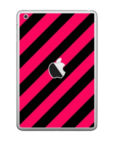 PINK BLACK STRIPES Apple iPad Mini A1432 SKIN