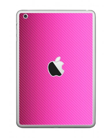 PINK TEXTURED CARBON FIBER Apple iPad Mini A1432 SKIN