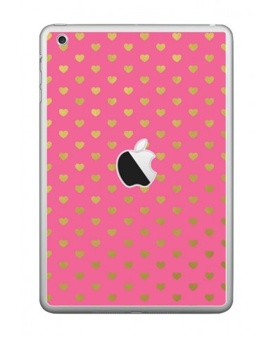 PINK GOLD HEARTS Apple iPad Mini A1432 SKIN