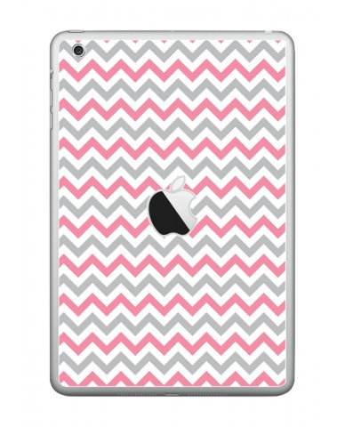 PINK GREY CHEVRON Apple iPad Mini A1432 SKIN