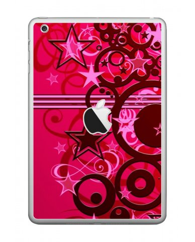 PINK GRUNGE STARS Apple iPad Mini A1432 SKIN