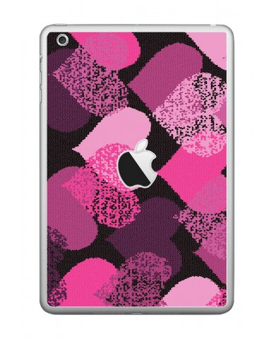 PINK MOSAIC HEARTS Apple iPad Mini A1432 SKIN