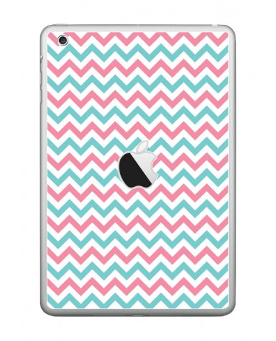 PINK TEAL CHEVRON Apple iPad Mini A1432 SKIN