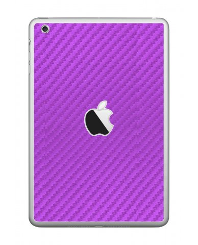 PURPLE TEXTURED CARBON FIBER Apple iPad Mini A1432  SKIN